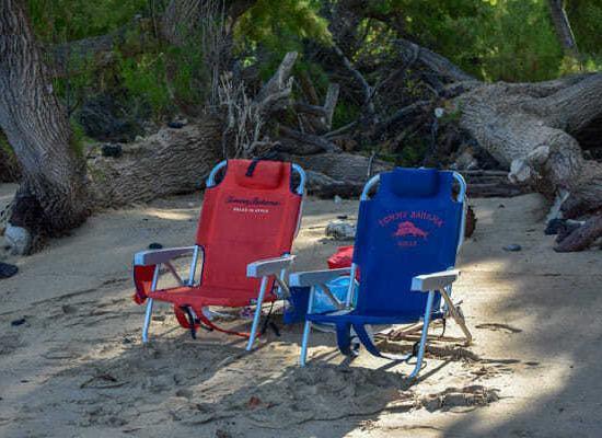 Beach Chairs on Waialea Beach