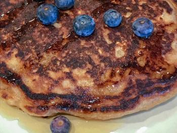 Healthier Blueberry Pancakes