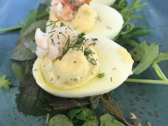 Lobster Deviled Eggs