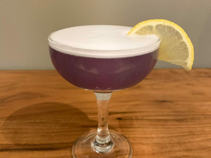 Violette Sour Cocktail 1