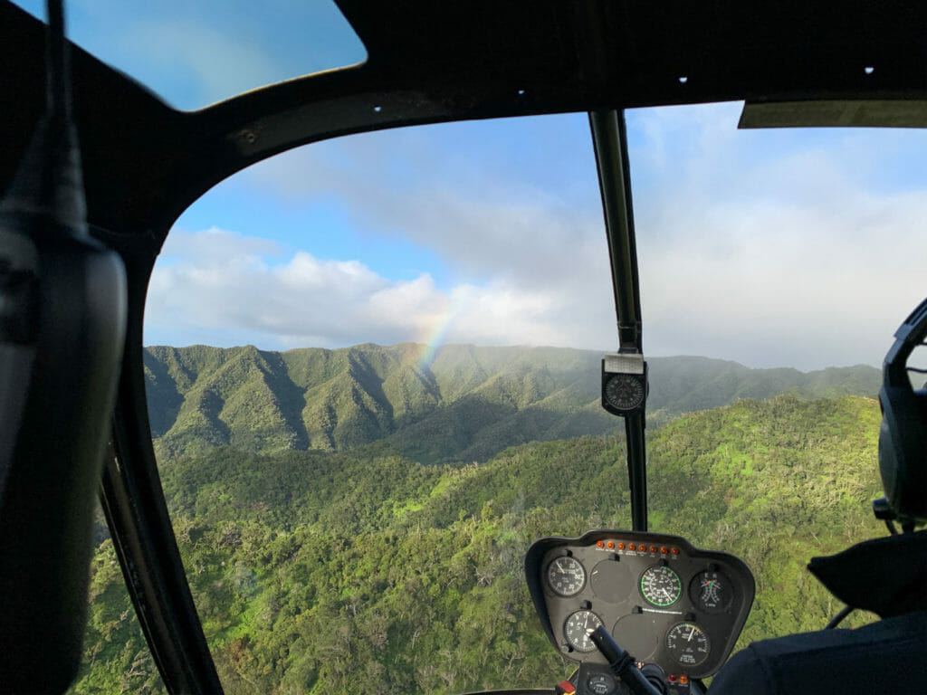 View of Kauai from Helicopter